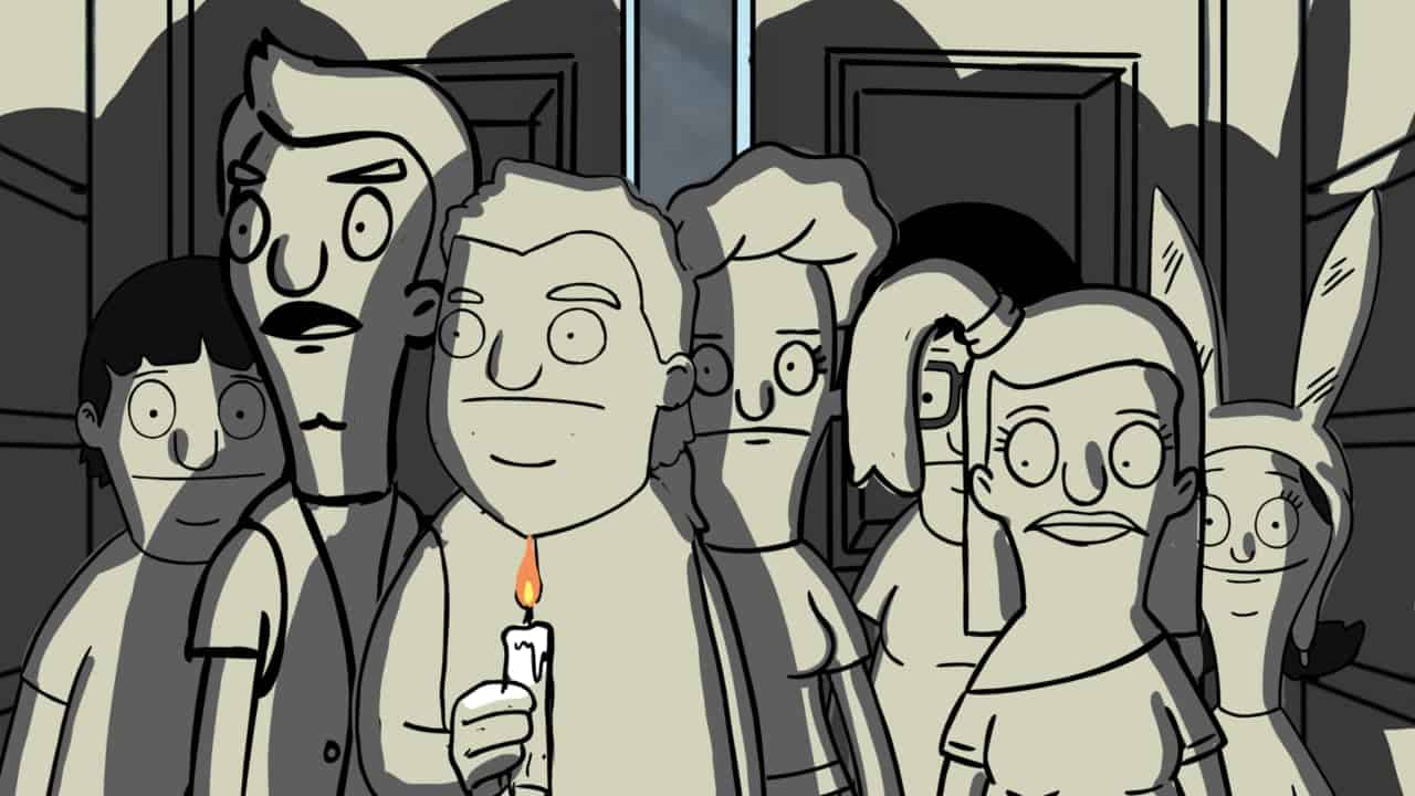 """Bob's BurgersAnimatic from Brad Rader's storyboard for """"The Real Ghost"""""""