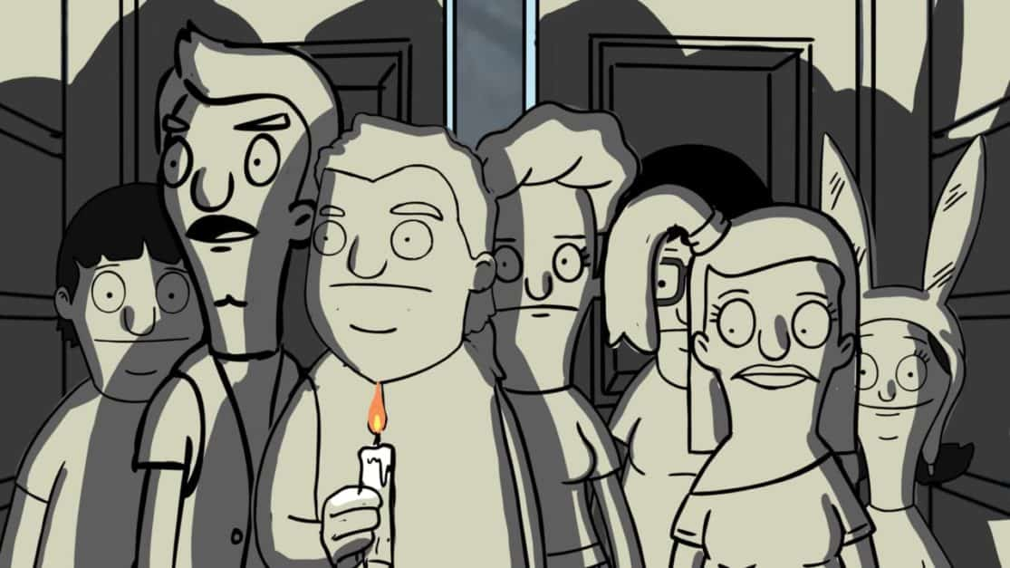 "Animatic from Brad Rader's storyboard for Bob's Burgers ""The Real Ghost"""