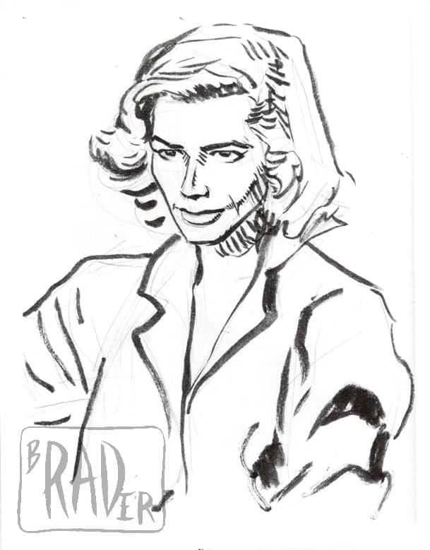 Portrait of Lauren Bacall by Brad Rader