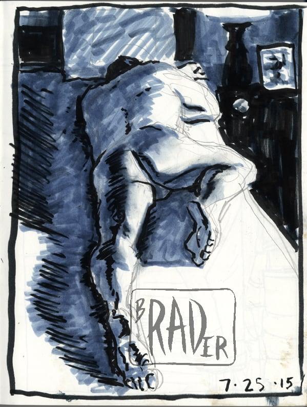 Richard, drawing from life by Brad Rader