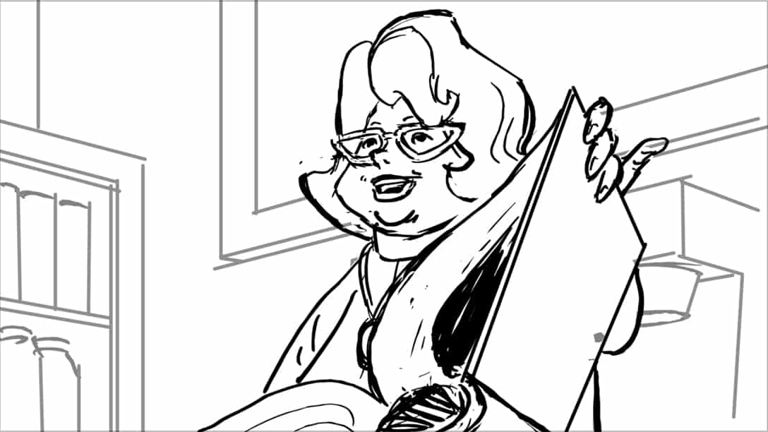 Storyboard by Brad Rader for animated television series Scooby-Doo! Mystery Incorporated episode Attack of the Headless Horror