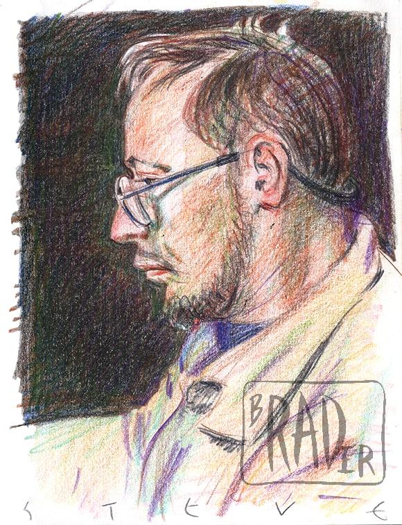 Steve, pastel portrait by Brad Rader
