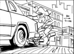 Storyboard by Brad Rader for the animated television series Stripperella episode 109