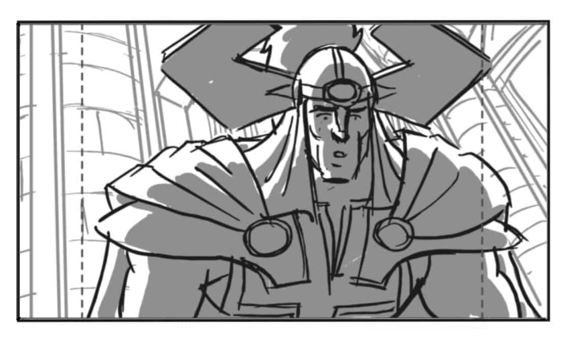 Storyboard by Brad Rader for the the animated television series The Avengers: Earth's Mightiest Heroes episode The Ballad of Beta Ray
