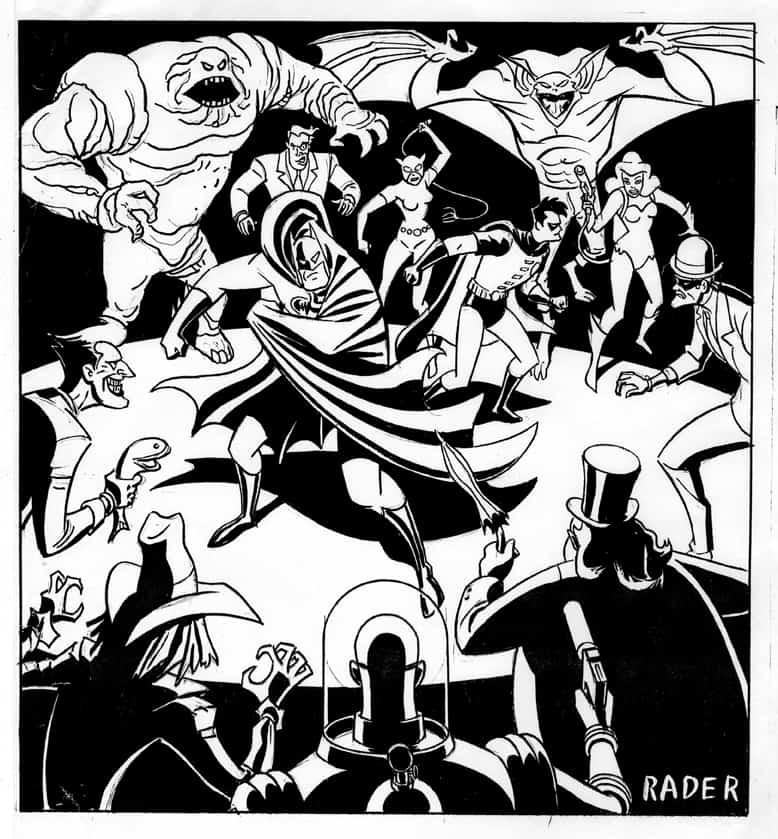 Batman's Rogues Gallery by Brad Rader