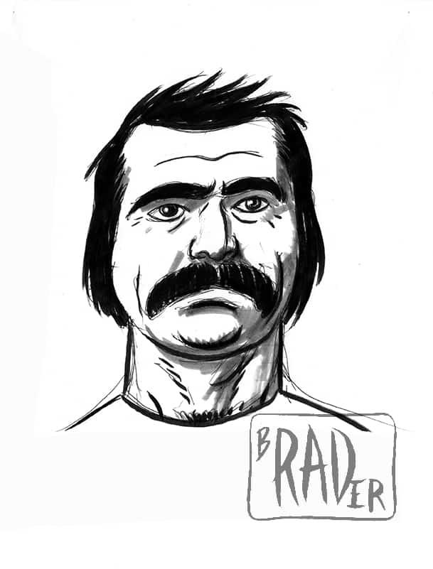 Bob Belcher from Bob's Burgers, drawn by Brad Rader