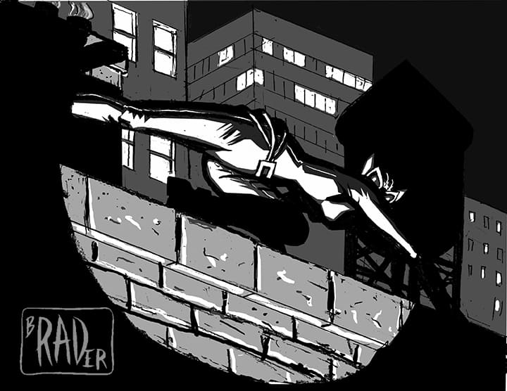 Catwoman on a Hot Tin Roof by Brad Rader