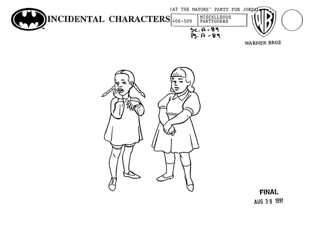 Flunky, character design by Brad Rader for Batman: The Animated Series