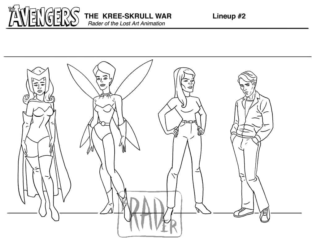 Character lineup for The Avengers, The Kree-Skrull War