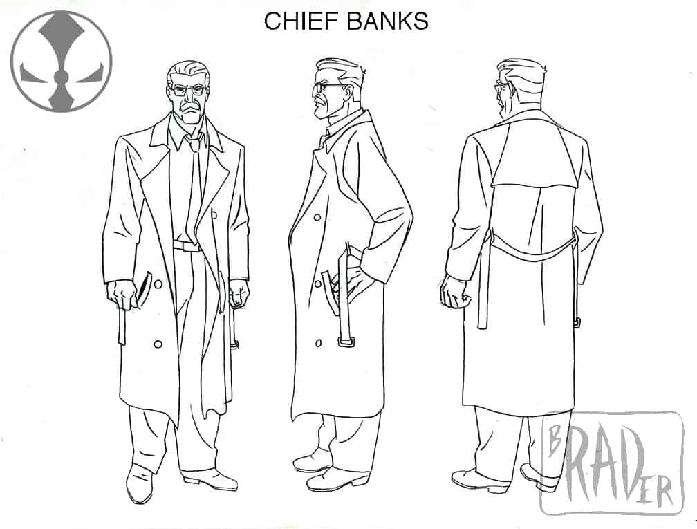 Banks model sheet, from Todd McFarlane's Spawn