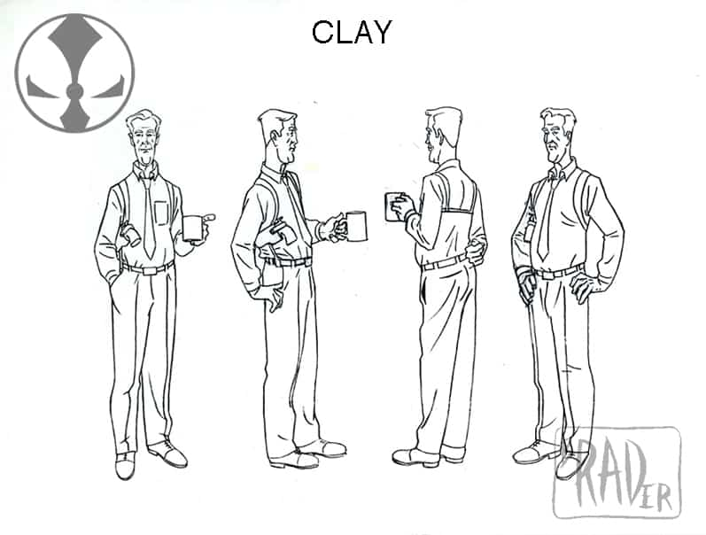 Clay model sheet, from Todd McFarlane's Spawn