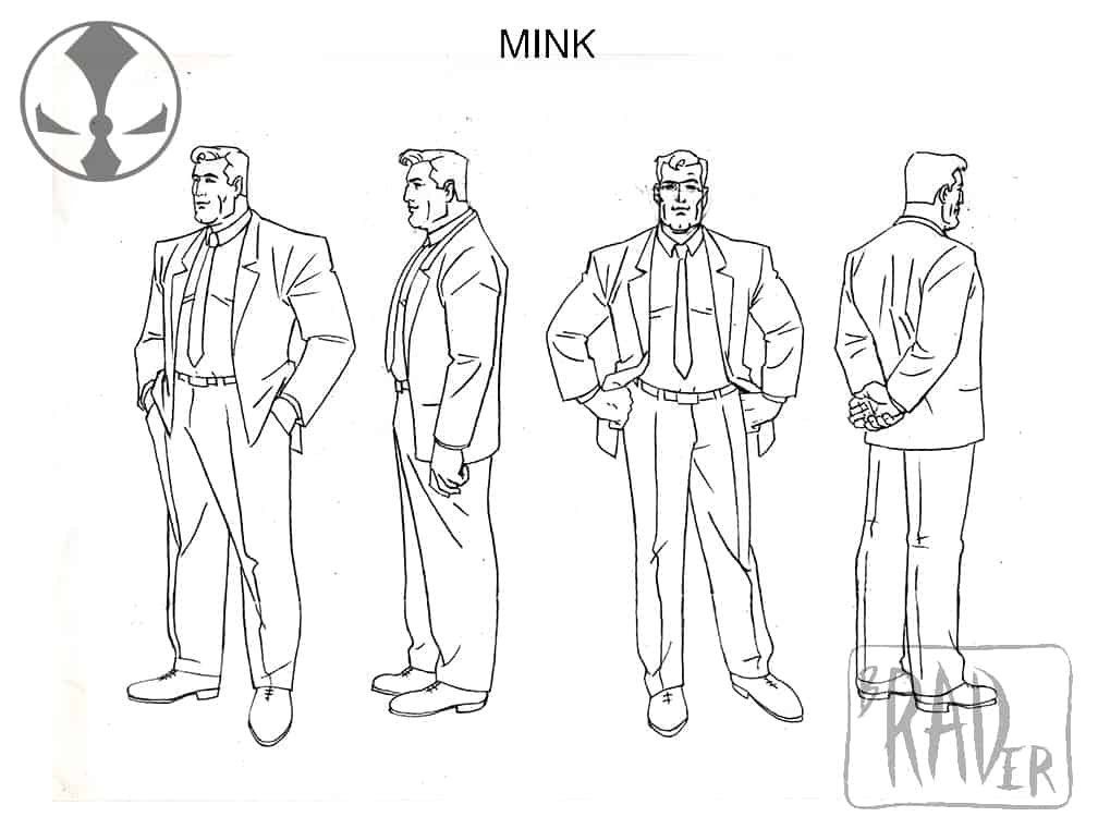 Mink model sheet, from Todd McFarlane's Spawn