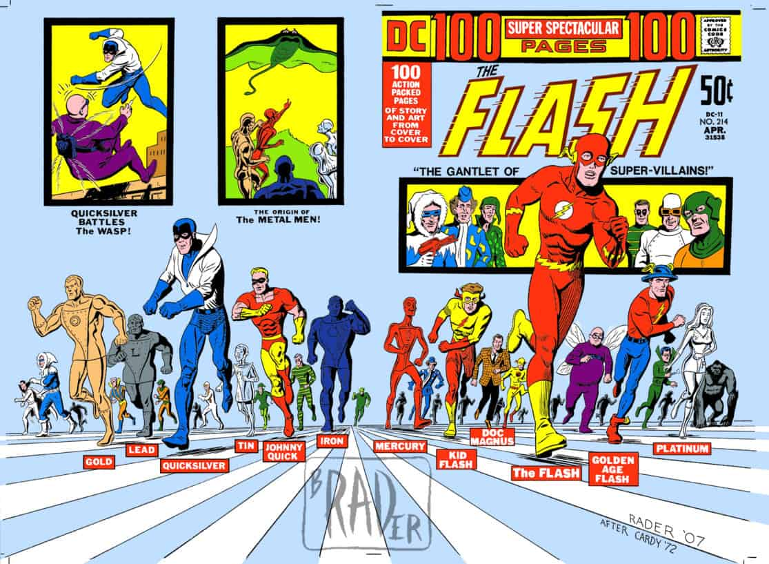 Superspectacular - Homage by Brad Rader to Nick Cardy's cover for DC's The Flash volume 1, number 214