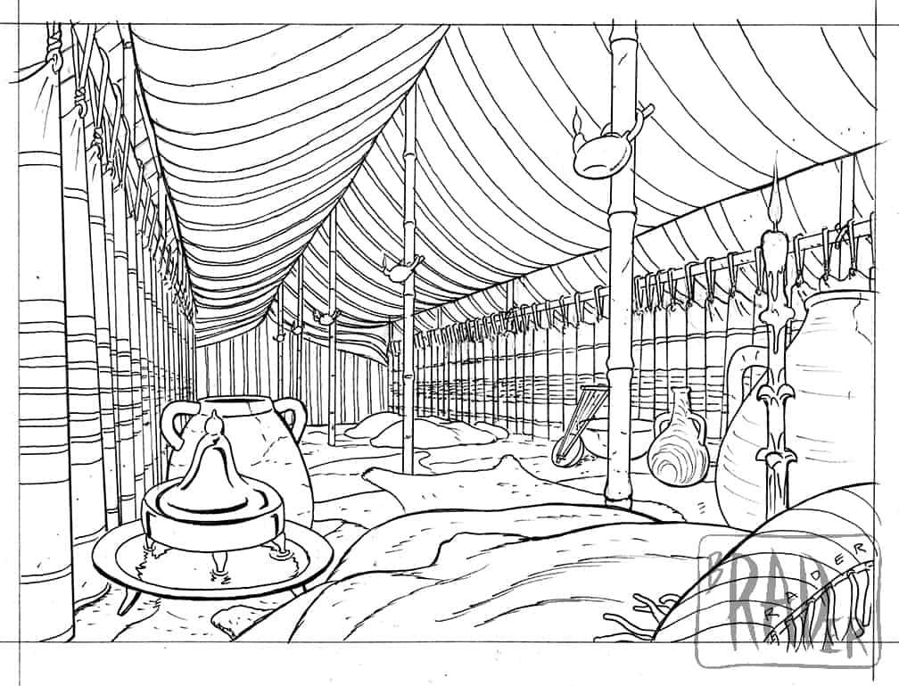 Cleangela's tent from The Greatest Escape