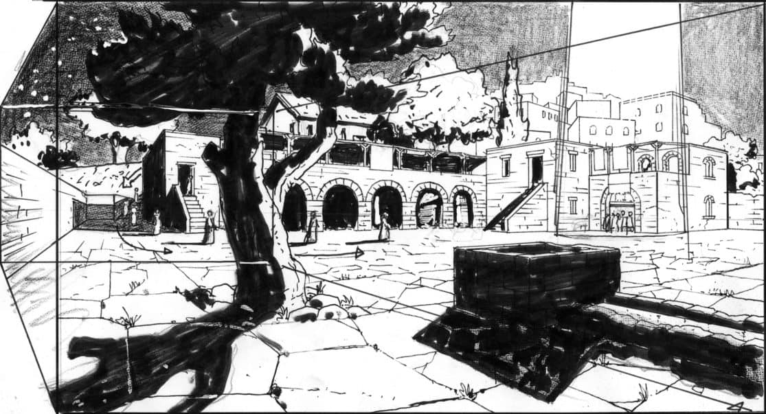 Storyboard by Brad Rader for the proposed animated motion picture The Greatest Escape