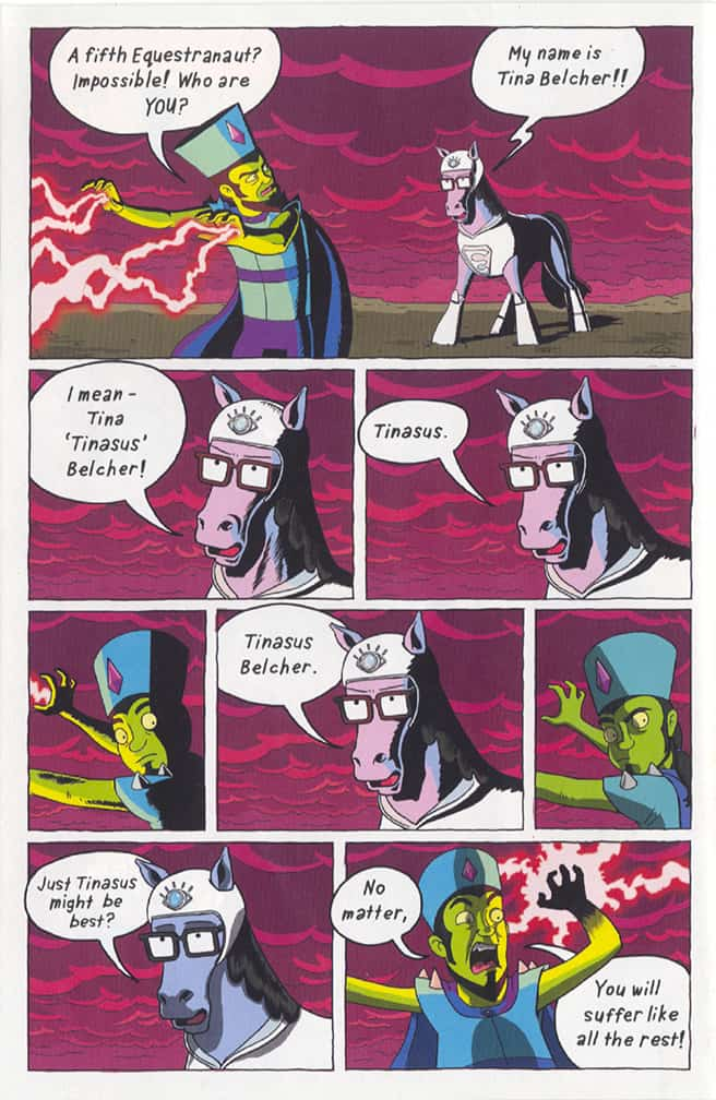 Bob's Burgers comics issue 1, My Life as a Horse, page 6, pencilled by Brad Rader