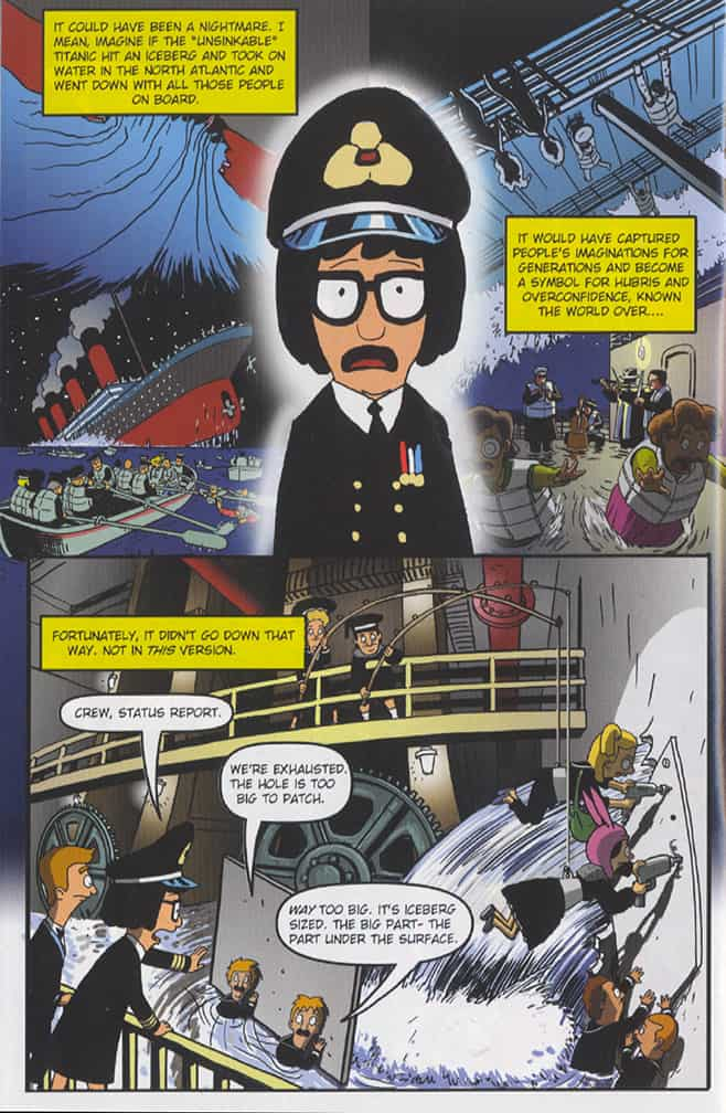 Bob's Burgers comics, Tinatanic, page 6, pencilled by Brad Rader