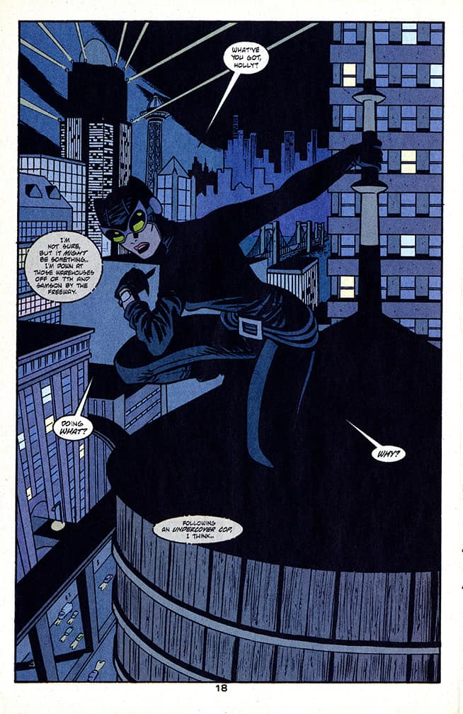 Catwoman comics 3rd series number 6 page 18 pencilled by Brad Rader