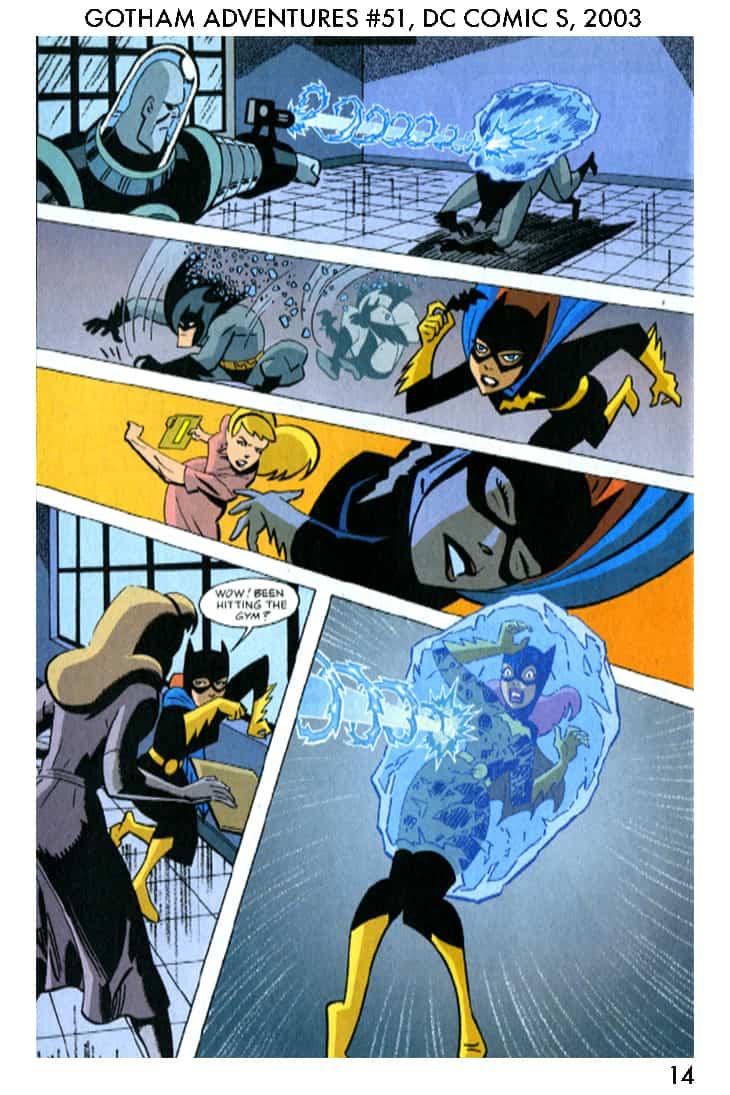 Batman Gotham Adventures #51, page 14, pencilled by Brad Rader