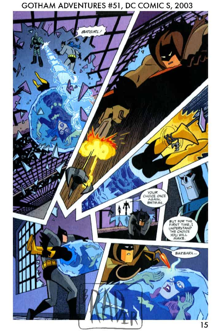 Batman Gotham Adventures #51, page 15, pencilled by Brad Rader