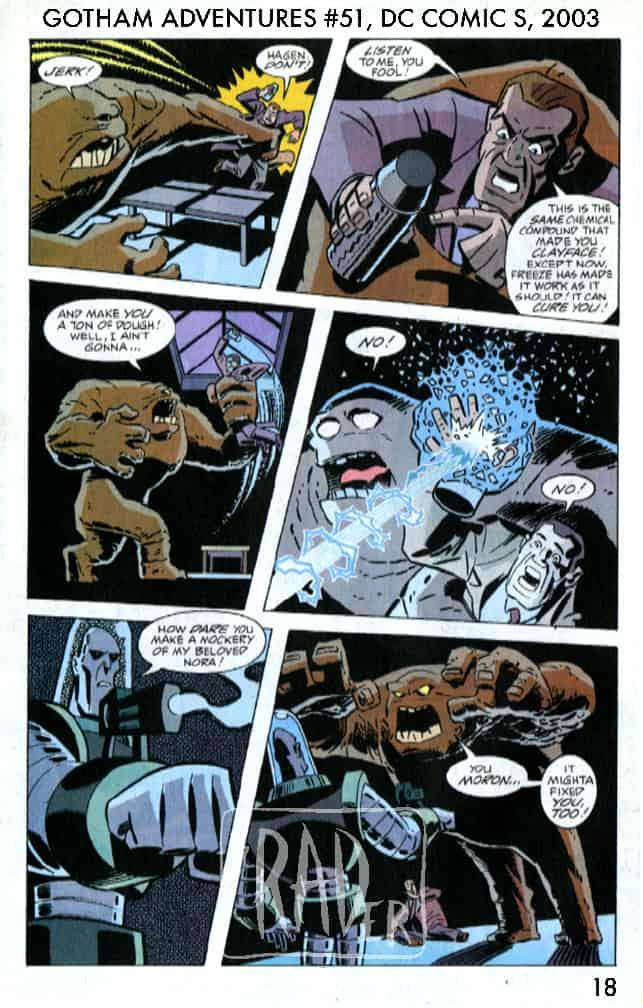 Batman Gotham Adventures #51, page 18, pencilled by Brad Rader