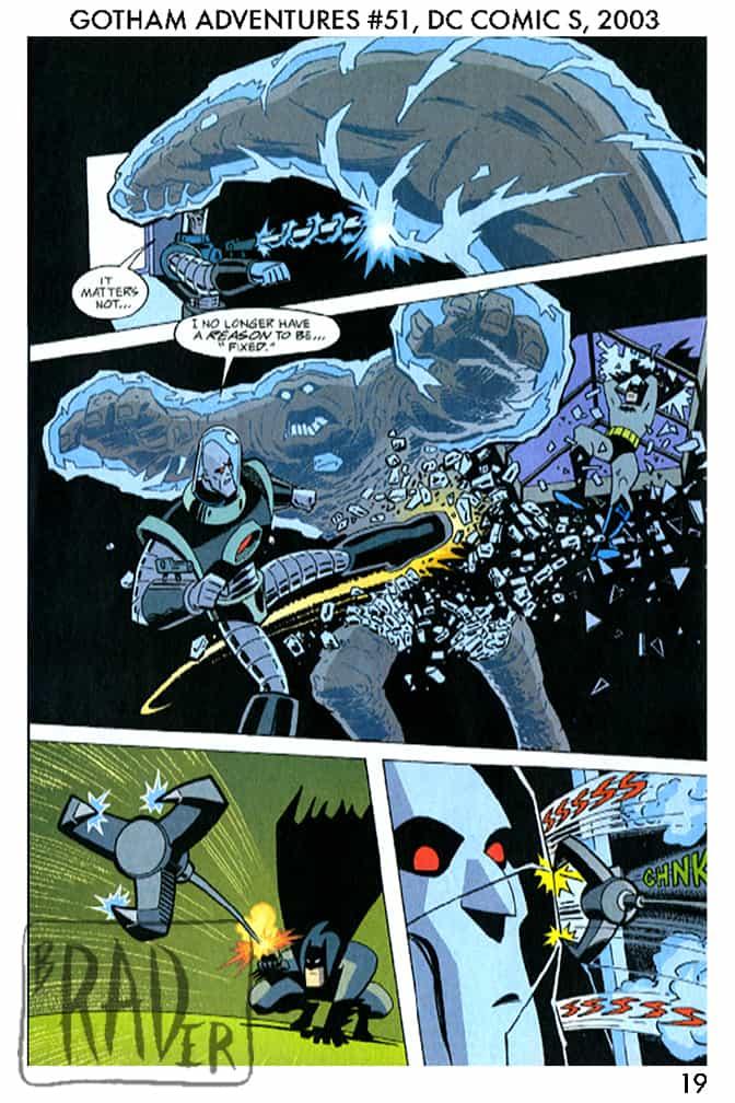 Batman Gotham Adventures #51, page 19, pencilled by Brad Rader