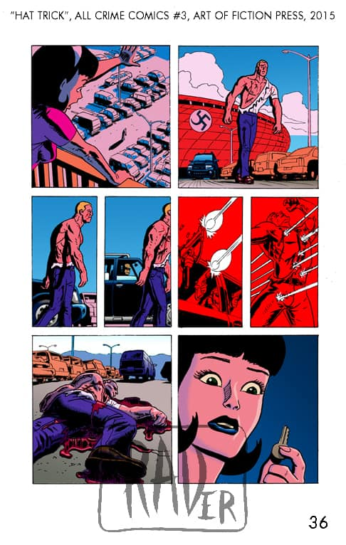 All Crime Comics number 3, Hat Trick pencilled by Brad Rader, page 36