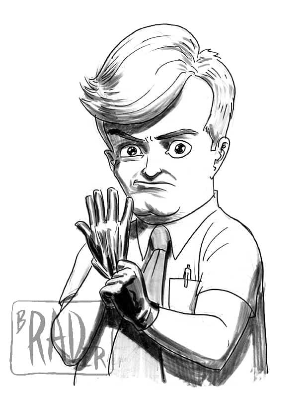 Hugo from Bob's Burgers, drawn by Brad Rader