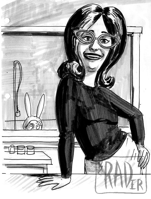 Linda Belcher from Bob's Burgers, drawn by Brad Rader
