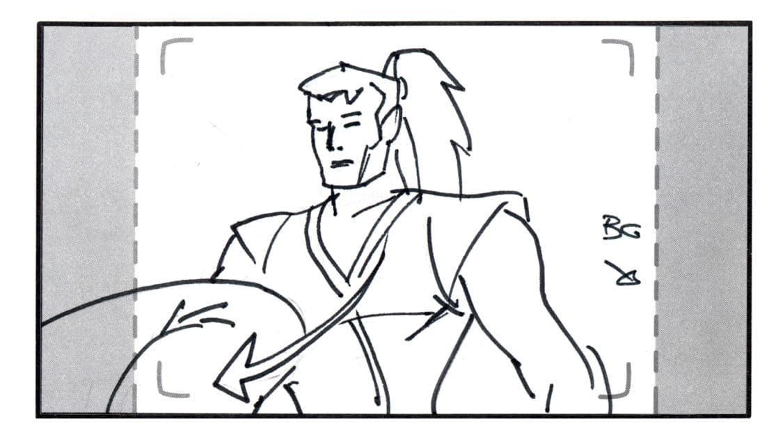 Storyboard by Brad Rader for Legend of the Dragon