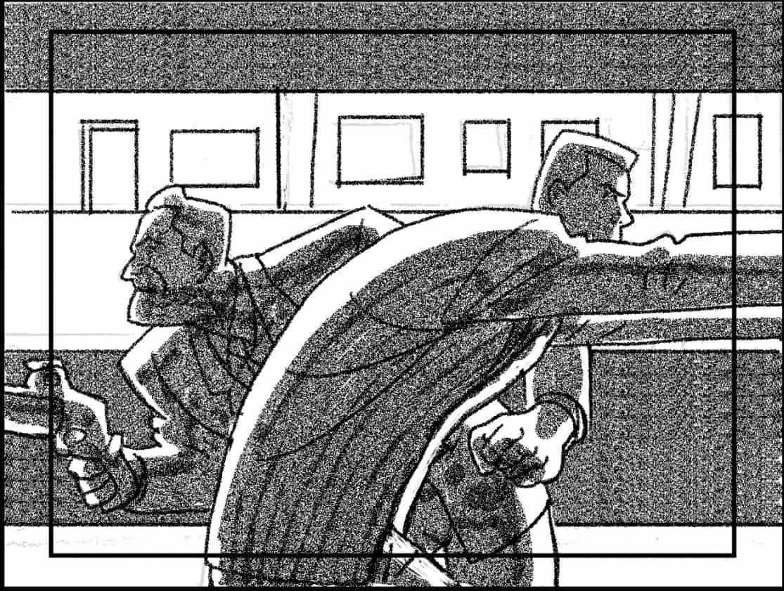 Storyboard by Brad Rader for the animated television show Men in Black: The Series