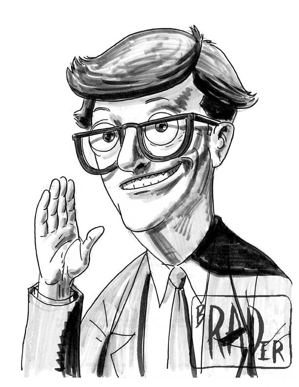 Mort from Bob's Burgers, drawn  by Brad Rader