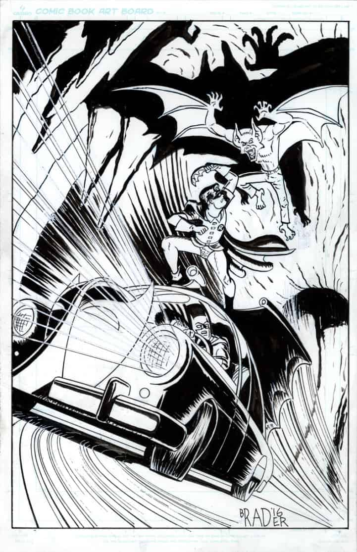Robin vs Manbat by Brad Rader