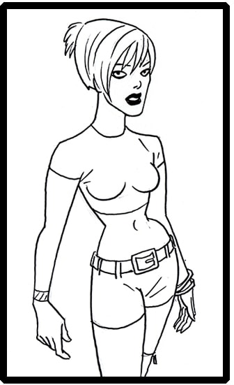 Characters designed by Brad Rader for Stripperella